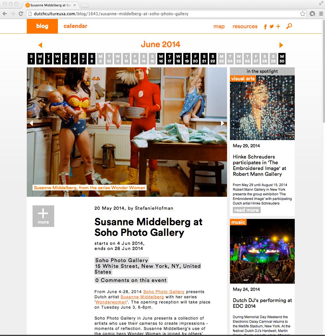 wonderwoman _Soho PhotoGallery New York_ Susanne Middelberg _Dennis van der Burch